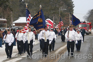 Photo: Nisswa Legion Honor Guard led the parade down Main street in Nisswa last  Saturday during the Nisswa Winter Jubilee - photo by Joanne Boblett