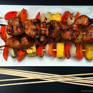 Soy Ginger Chicken Kabobs Recipe and 3 Rules for Easy Entertaining.