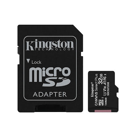 Minnekort, Kingston Canvas Select Plus microSD 32GB Class 10