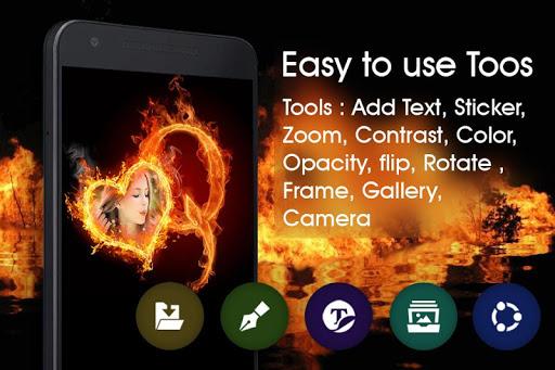 Fire Text Photo Frame  screenshots 4