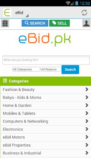 eBid.pk Online Shopping Mall
