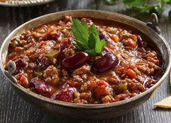 Fireman Bob's  Tweaked  Turkey And Veggie Chili Recipe