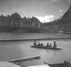 Photo: Hotel Quitaidnha. Lago já em funcionamento. Foto da década de 40