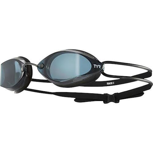 TYR Tracer X Racing Nano Goggle: Black Frame/Black Gasket/Smoke Lens