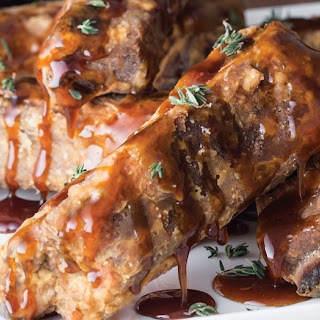 Country-Fried St. Louis Ribs with Spicy Cane Syrup Drizzle Recipe