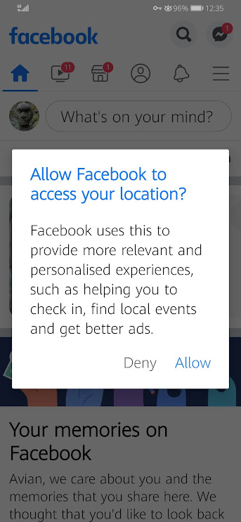 Allow Facebook To Access Your Location