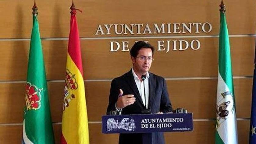 El alcalde de El Ejido, en una comparecencia anterior.