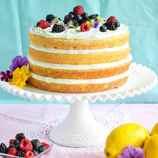 Ricotta Lemon Burst Sponge Cake Recipe