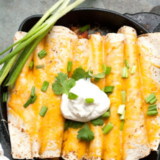 One Pot Cheesy Chicken Enchiladas