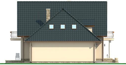 BW-23 garaż 2 stanowiskowy - Elewacja lewa