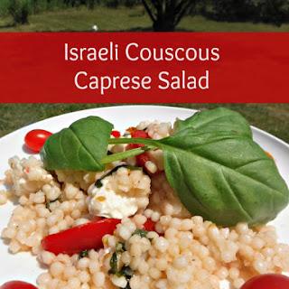 Israeli Couscous Caprese Salad