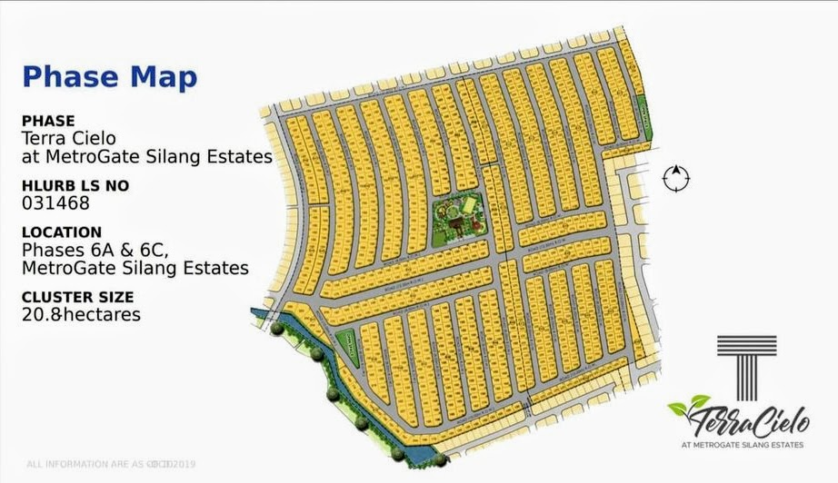Terra Cielo, Metrogate Silang Estates location map