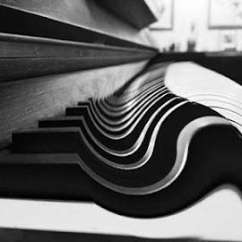 by Vanja Duraković - Digital Art Things ( digital, surreal, edited, surrealism, photomanipulation, bnw, digital art, piano, edt, bw, edits, black and white, manipulation )