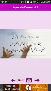 Aqawaal e Zarreen in Urdu - náhled