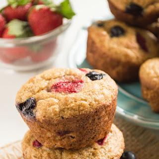 Mixed Berry Whole Wheat Muffins.