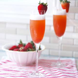 Strawberry Rhubarb Mimosa.
