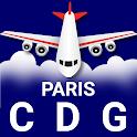 Paris Charles De Gaulle (CDG) Airport: Flight Info icon