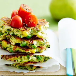Zucchini And Cheese Fritters.