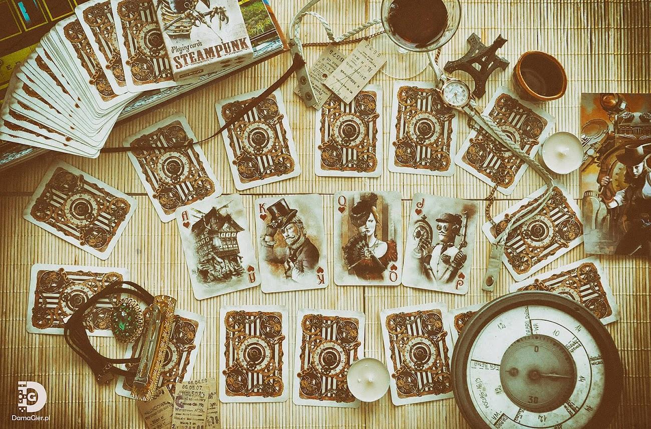 steampunk karty do gry fabryka kart