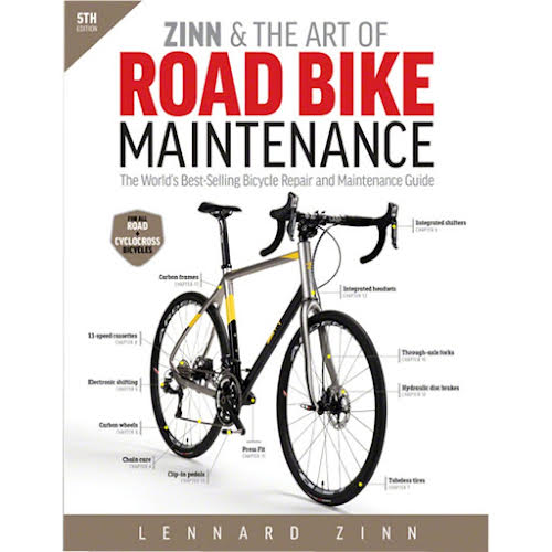 Velo Press Zinn and the Art of Road Bike Maintenance Book, 5th Edition