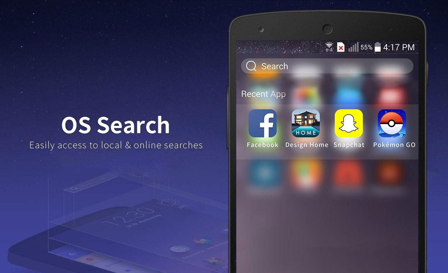 Launcher for Phone 7 & Plus- screenshot