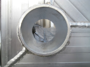 "Photo: gate hole for 3"" drain valve"