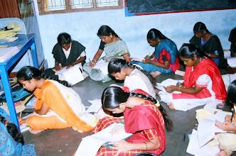 Photo: Our women trainees writing their examination
