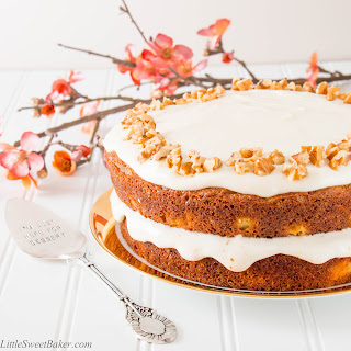 Healthy Carrot Cake with Yogurt Cream Cheese Frosting