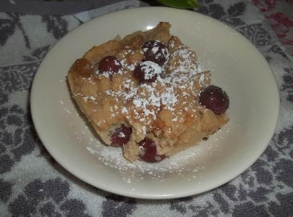 Black Cherry- Bread Pudding, Yum!