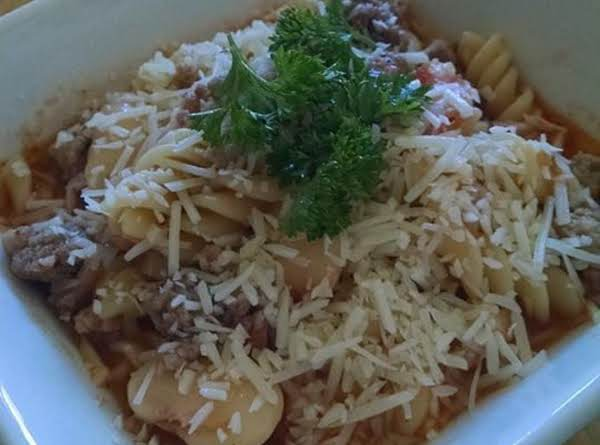 Pork Fazool With Pasta Recipe