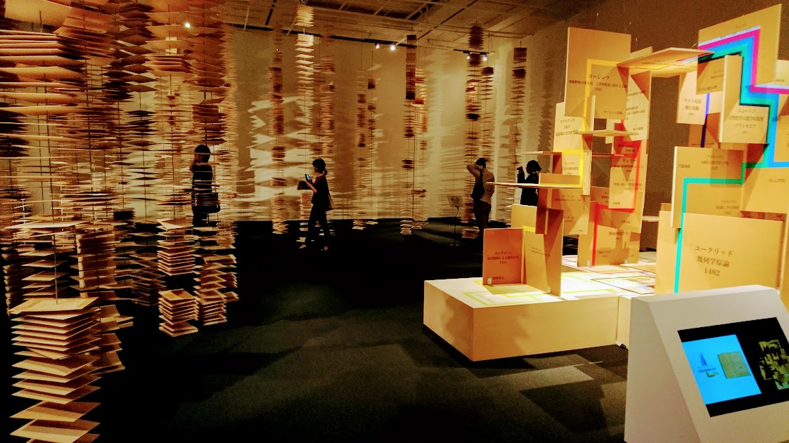 「世界を変えた書物」展の最後の部屋