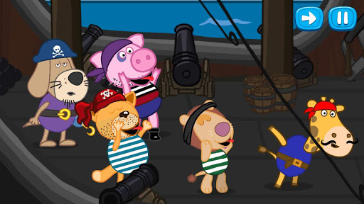 Pirate treasure: Fairy tales for Kids android2mod screenshots 2