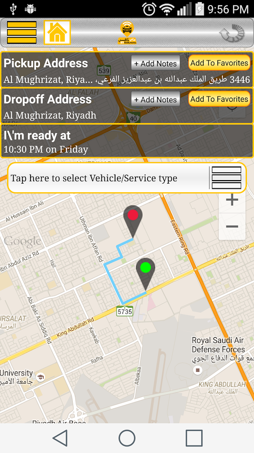 MYTAXI SAUDIA- screenshot