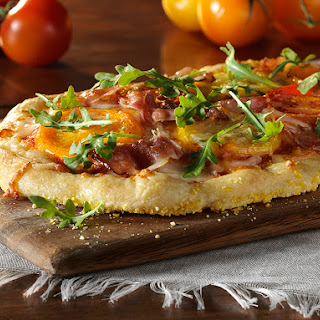 Heirloom Tomato Pizza with Prosciutto and Provolone Cheese