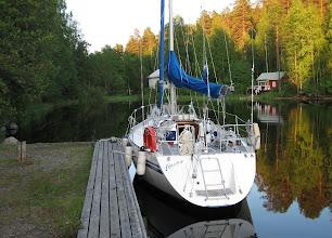 Photo: Blueship Judinsalon laivalaiturissa.
