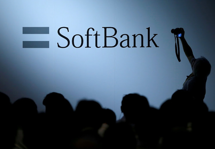 SoftBank Group's logo at a company function in Tokyo, Japan. Picture: REUTERS/ISSEI KATO