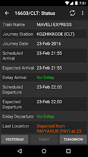 Indian Railway Train Status- screenshot thumbnail