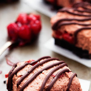 Chocolate Cherry Mousse Bars.
