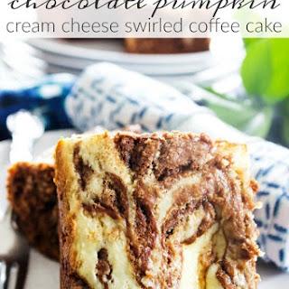 Chocolate Pumpkin Cream Cheese Swirled Coffee Cake.