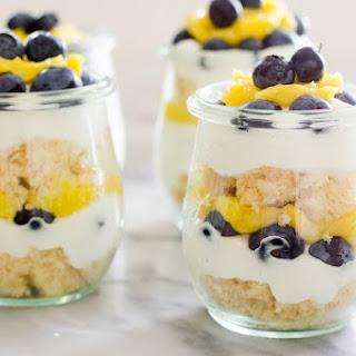 Individual Lemon Blueberry Trifles