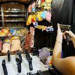 shooting guns at the Tonghua night market in Taipei in Taipei, T'ai-pei county, Taiwan