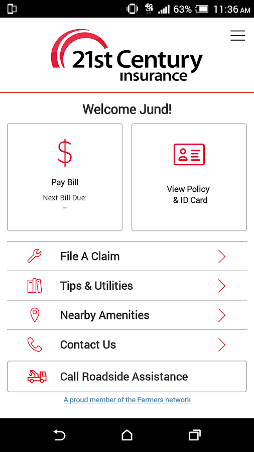 21st Policy Self-Service App- screenshot