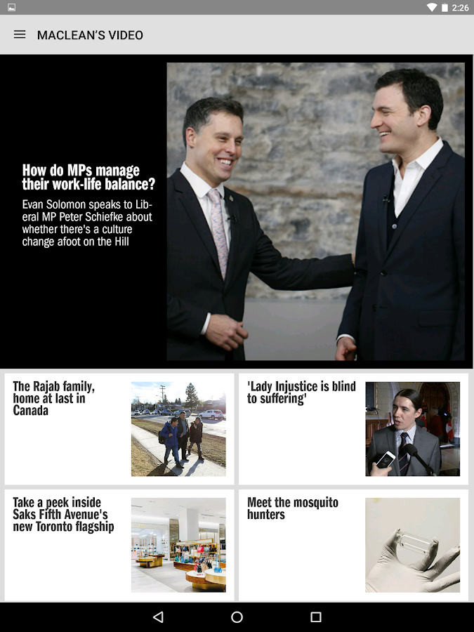 Maclean's Magazine- screenshot