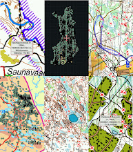 Photo: Plant localities as waypoints, and skiing routes as tracks on NLS wms layers or orienteering maps in Locus Map Pro