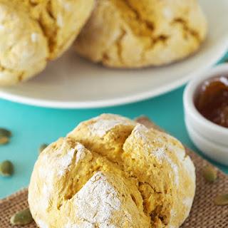 Pumpkin Oatmeal Soda Bread Rolls