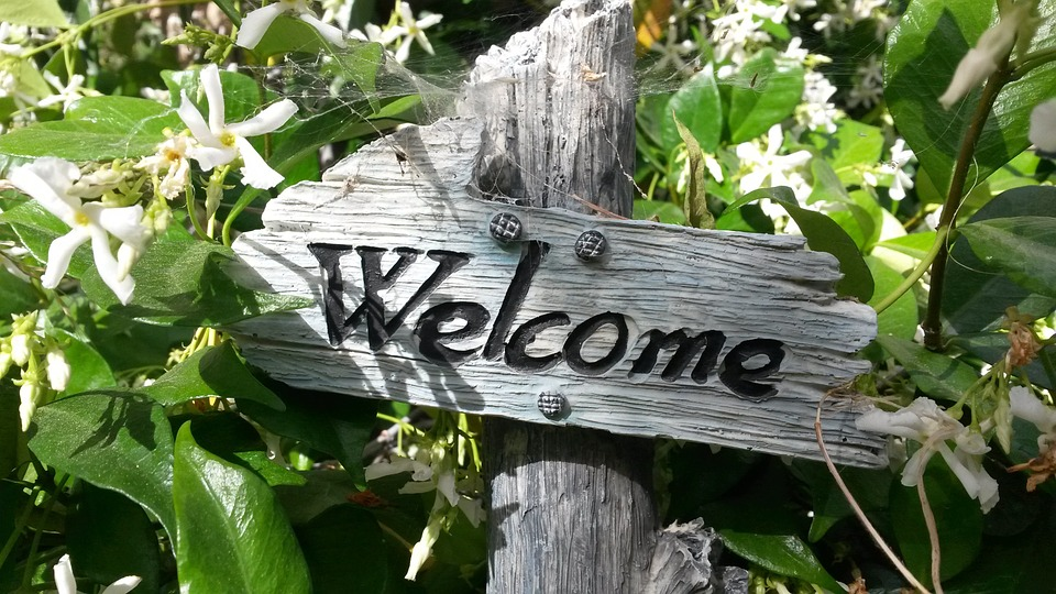 Welcome Sign, Garden Sign, Garden Decor, Welcome Home