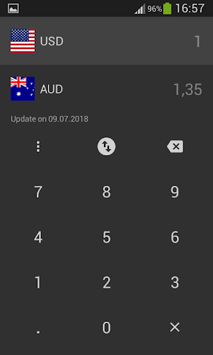 Us Dollar To Australian Converter Usd Aud Screenshot 3