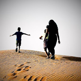 Mother is always with children by Naveen Aggarwal  - Uncategorized All Uncategorized