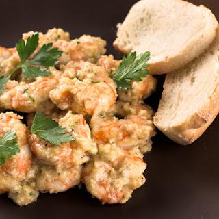 Stir fried Prawns with Garlic and Almond Sauce