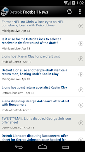 Detroit Football News- screenshot thumbnail